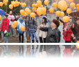 """The 16 Days against Gender-Based Violence Campaign was launch in Kyrgyzstan with the """"Orange Your Day"""" flash-mob, organized by UNiTE to End Violence Against Women and Girls national movement."""