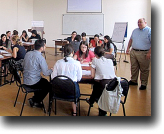 After working in the live-client clinics of the Tbilisi City Hall Project, the students underwent legal skills training in the classroom