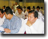 Cambodian Ministry of Health provincial officials join with judges and prosecutors to plan a common response to the problem of counterfeit and substandard drugs, and illegal drug services.