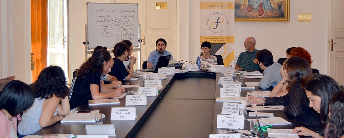 Professors Rich, Lomtatidze and Zedelashvili discuss the legal status of religious organizations
