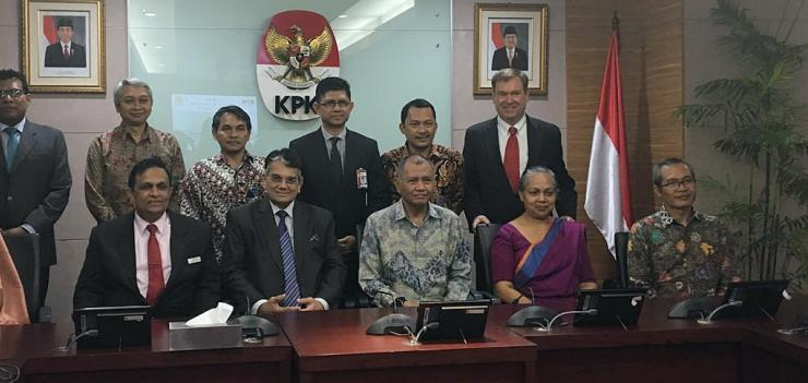 CIABOC, KPK, and EWMI participants gather on April 1, 2019 at KPK's headquarters in Jakarta.