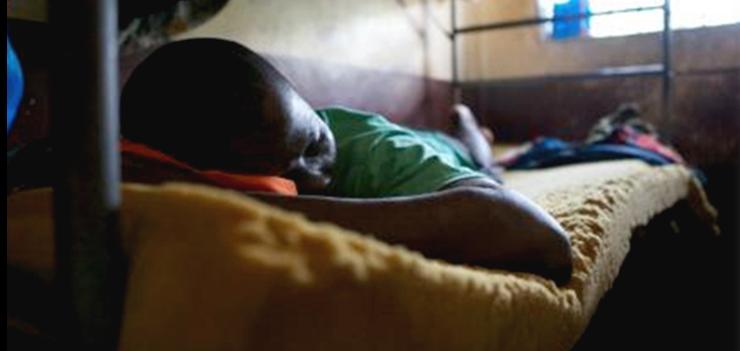 Very few prisoners in Liberia have access to beds or mattresses.