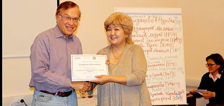 Professor Lester Salamon and two other JHU experts team offered various lectures on non-profit management to a total of 55 CSOs, 19 faculty members, and 139 students from Osh and Bishkek.