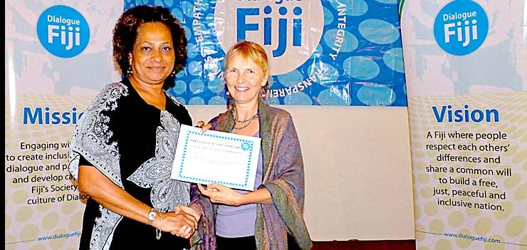EWMI and Dialogue Fiji supported training to coordinate and lead group exercises based on locally derived case studies that are designed to further enhance dialogue facilitation skills and abilities of participants.