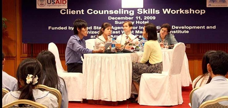 Law students attended client counseling skills workshops prior to competition (2009).