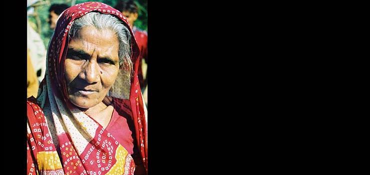 A Dalit panihari (water woman), in the village of Divee.