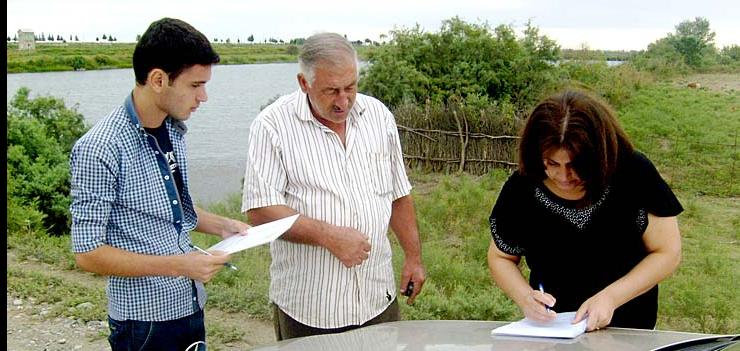 """Dalga"" Ecology and Nature Protection Public Union conducts environmental survey in those communities located on the bank of Araz and Kura rivers"