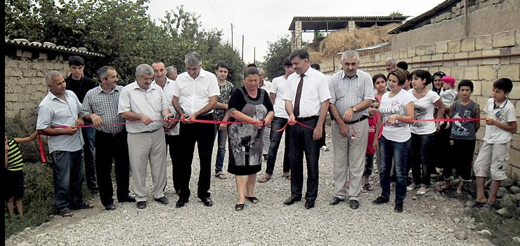 The road repair project jointly funded by USAID, Government of Azerbaijan, local municipality, and community members improved the day-to-day living conditions of over 1,400 people in Arzu community