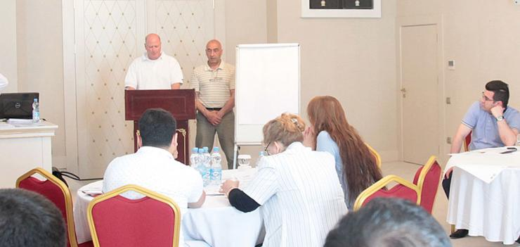 SEDA COP, Mr. Tim Madigan, welcomes participants to the M&E training.