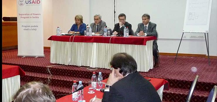 Serbian and Montenegrin court officials present experiences with backlog reduction to Serbian judges, Belgrade, May 2009