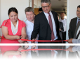 Ribbon cutting ceremony at new legal aid center in Cholpon-Ata