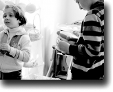 A photo of children with autism by Giorgi Tsagareli, from the CfA's exhibition on World Autism Awareness Day