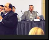 Columbia University Professor Francisco Rivera-Batiz presents during the conference's education panel